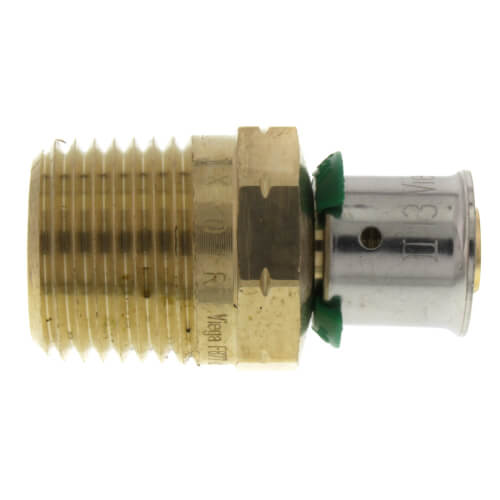 "Zero Lead Bronze 3/4"" PEX Press x 3/4"" M NPT Adapter w/ Attached Sleeve"