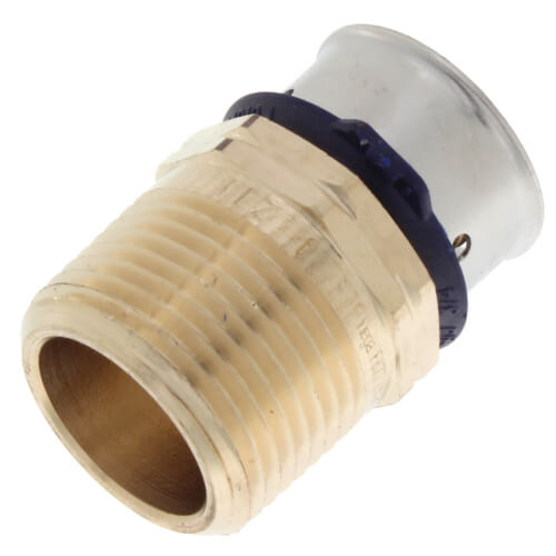 "Zero Lead Bronze 3/4"" PEX Press x 3/4"" F NPT Adapter w/ Attached Sleeve"