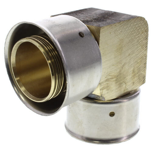 "Zero Lead Bronze 1-1/4"" PEX Press Elbow w/ Attached Sleeve"
