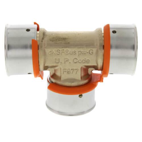 94060 viega 94060 zero lead bronze 1 pex press tee w for Poly sleeve for copper pipe