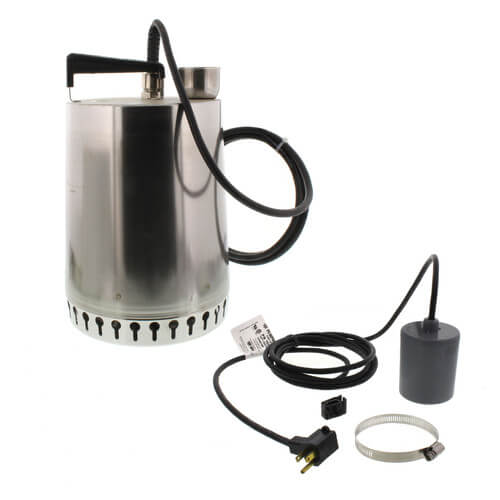 """AP12 Sump Pump - 1/2 HP, 10ft power cord, 7/16"""" solids handling (w/ float switch) Product Image"""