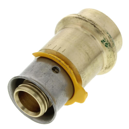 "Zero Lead Bronze 1/2"" PEX Press Elbow w/ Attached Sleeve"
