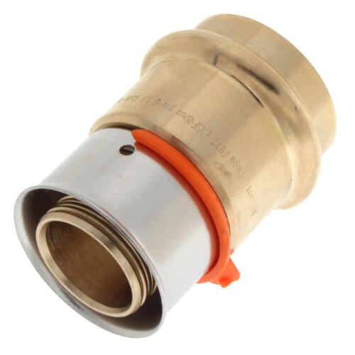 "Zero Lead Bronze 1"" PEX Press Coupling w/ Attached Sleeve"