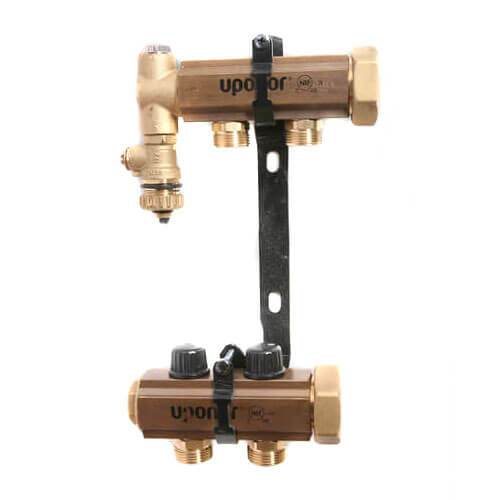 TruFlow Jr. Manifold Assembly with Balancing Valves & Valveless, 2 Loop S&R