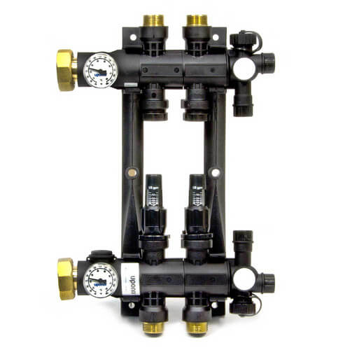 2-Loop EP Radiant Heat Manifold Assembly w/ Flow Meters