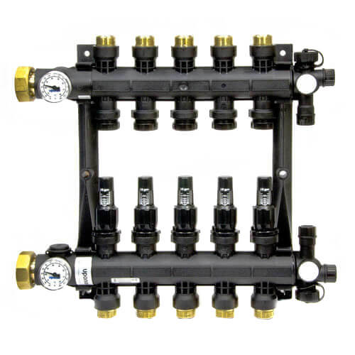 3-Loop EP Radiant Heat Manifold Assembly w/ Flow Meters