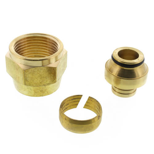 "5/8"" QS-style Fitting Assembly, R20 thread"