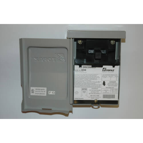 acd48 topaz acd48 ac disconnect switchable non fused 60 amps ac disconnect switchable non fused 60 amps 120 240v product image