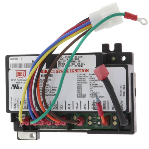bgn c baso gas products bgn c ignition module  ignition module 6 pin harness for pulse furnace product image
