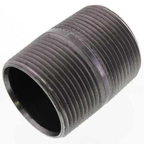 """1-1/4"""" x 2"""" Black Nipple Product Image"""
