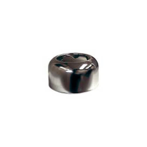 "1-1/4"" OD Sweat (Tubular Size) Chrome-Plated Steel Box Escutcheon (3"" OD)"