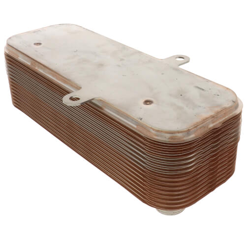 500,000 BTU/Hr Hydronic BPX Brazed Plate Heat Exchanger With Mounting Tabs