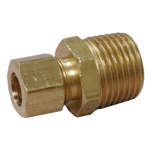 "(68-54) 5/16"" OD x 1/4"" MIP Brass Compression Connector Product Image"