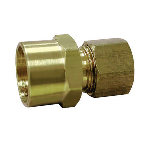 "(66-610) 3/8"" Compression x 5/8"" OD Brass Sweat Adapter"