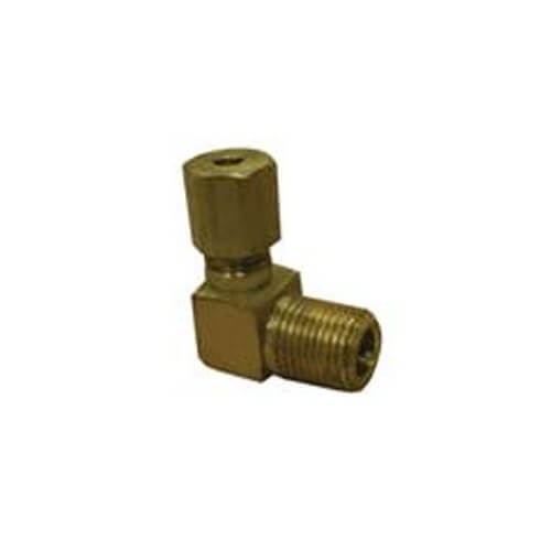 "(69-62) 3/8"" OD x 1/8"" MIP Brass Compression Elbow"