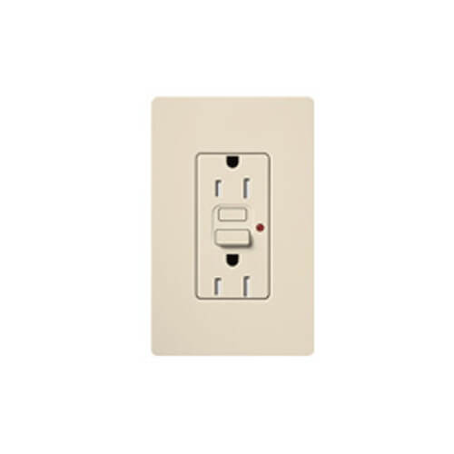 Claro Tamper Resistant GFCI Receptacle (Light Almond)