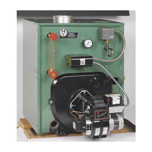 CL4-175 112,000 BTU Output, Cast Iron Steam Boiler w/ Tankless Coil (Packaged)