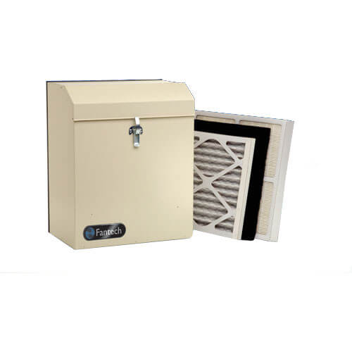"VH Series Heat Recovery Ventilator w/ Fan Shutdown Defrost, 4"" Top Ports (up to 1,400 Sq. Ft.)"