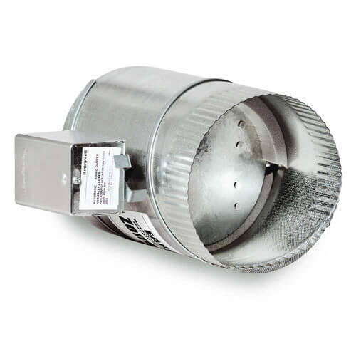 "7"" Round Motorized Fresh Air Damper Product Image"