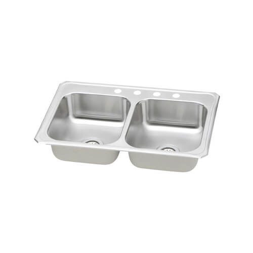 Elkay 33x22 Celebrity 3 Hole Double Bowl Sink CR33223 at Sears.com