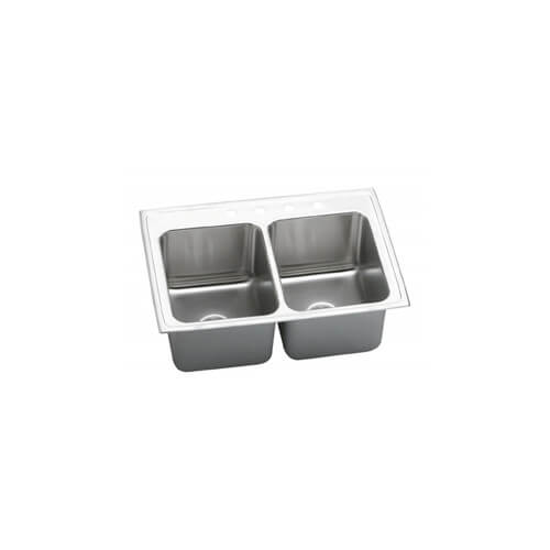 ELKAY 33X22X10 4H DBL BOWL SINK STAINLESS STL DLR3322104 at Sears.com