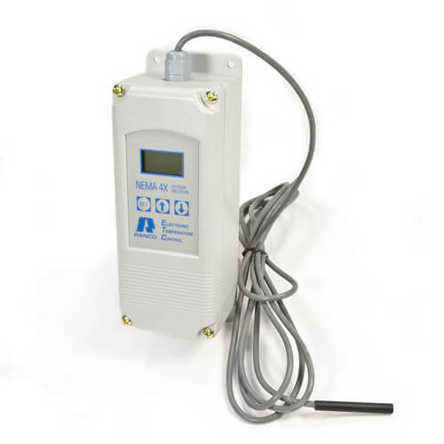 Two Stage Temperature Control w/ Sensor (120/240V Input, Plastic Enclosure)