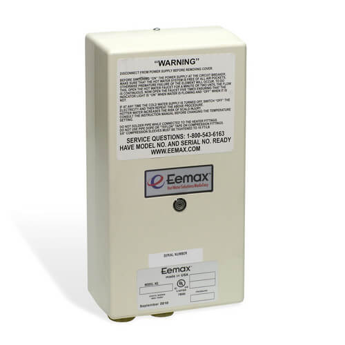 EX8208T EE Electric Tankless Water Heater w/ Thermostatic Limit Tepid Water Setting