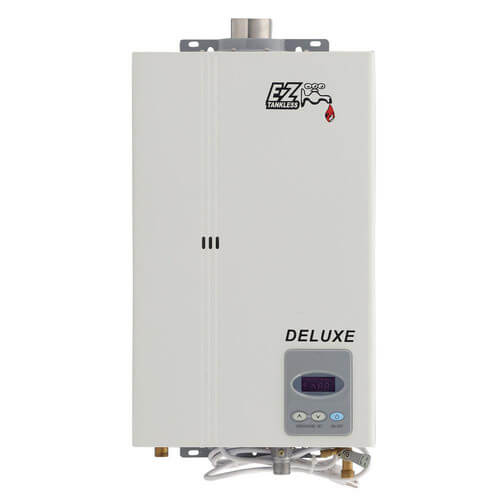 Ez deluxe ng ez tankless ez deluxe ng ez deluxe on demand tankless water heater 1 2 bath w for Best tankless water heater for 2 bathroom homes