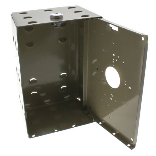 Universal Size Steel Thermostat Guard w/ Solid Mounting Plate