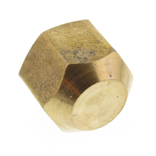"(40-10) 5/8"" Brass Flare Cap Product Image"
