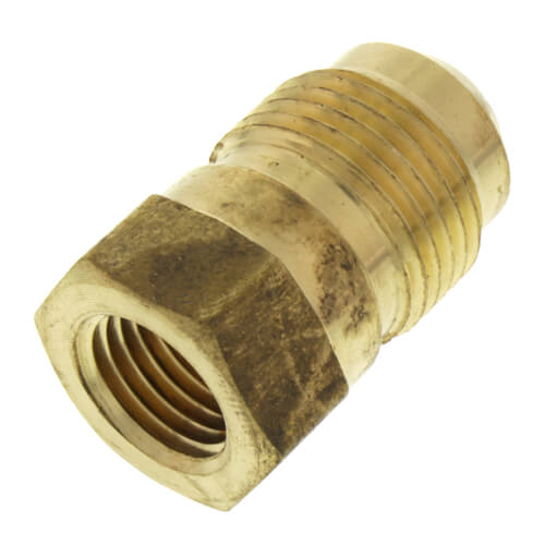 "(41S-6) 3/8"" Brass Short Flare Nut"