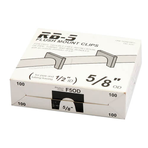"""Box of 100 Flush Mount Clips for 1/2"""" PEX Product Image"""