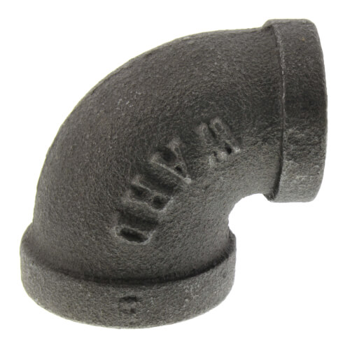 "1/2"" x 3/8"" Black 90° Elbow Product Image"