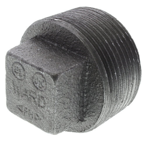 "1"" Black Regular Cored Plug"