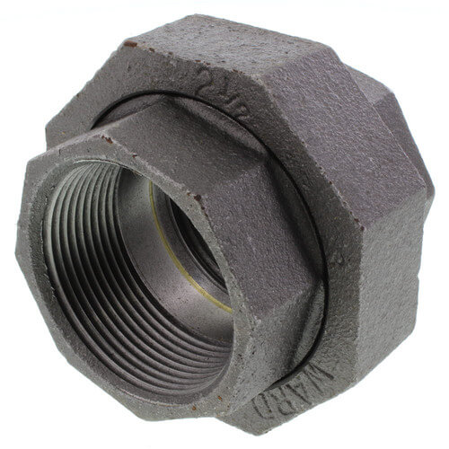 "3"" x 2-1/2"" Black Hexagon Bushing"