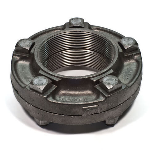 "2-1/2"" Black Cast Iron Steam Flange Union"