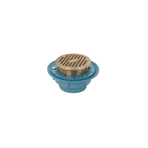 "2"" No-Hub Adjustable Finished Area Floor Drain"