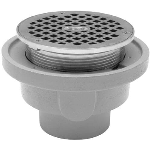 "4"" No-Hub Adjustable Floor Drain"