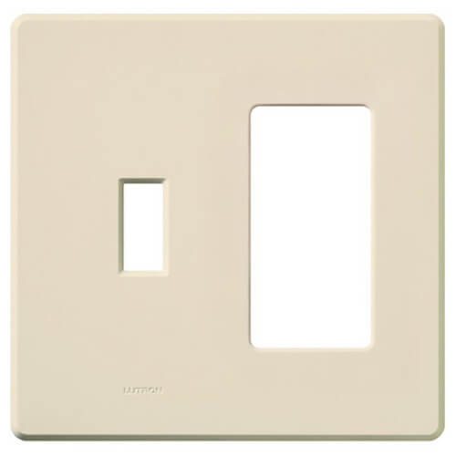 Fassada 2-Gang Light Almond Wallplate (Combination Opening)