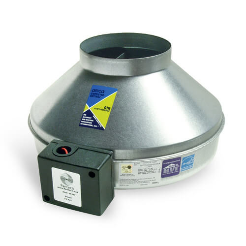 "FG Series Round Inline Exhaust Fan, 6"" Duct (483 CFM)"