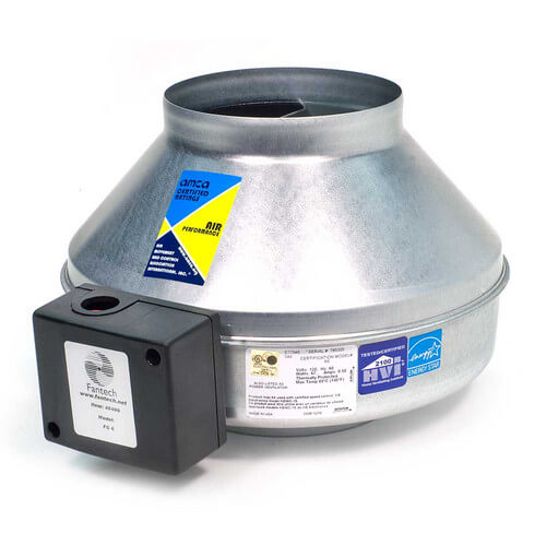 "FG Series Round Inline Exhaust Fan, 8"" Duct (461 CFM)"
