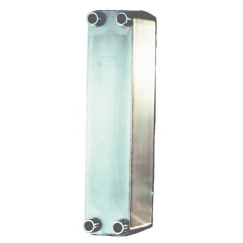 "100 Plate, 1"" Threaded TTP Double Wall Brazed Plate Heat Exchanger (5"" x 21"")"