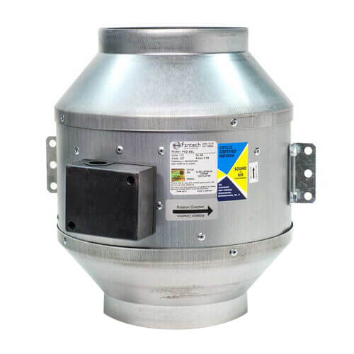"""FKD Series Round Inline Mixed Flow Centrifugal Fan, 16"""" Duct (2,952 CFM)"""