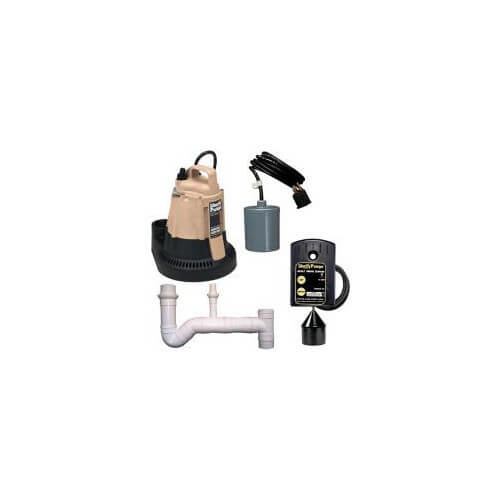 1/2 HP Sump Pump w/ Pipe Nipple - Pump Switch & Alarm w/ Alarm Float - 115v