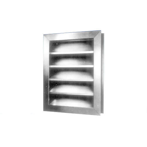 "FLV Series Channel Frame Fixed Blade Intake Louver (48"" x 60"")"