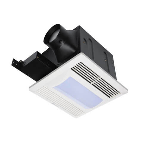 "FQ Series Quiet Ceiling Mounted Exhaust Fans w/ Light, 4"" Duct (80 CFM)"