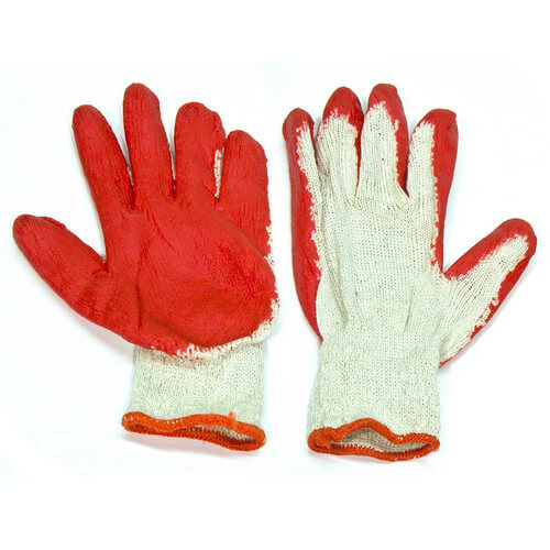 "Red ""Painted Palm"" Work Gloves (One size fits all)"