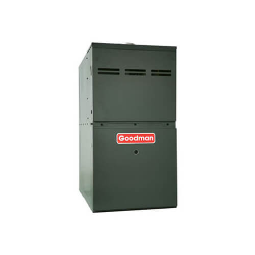 Goodman 40,000 BTU 80% Efficiency, Two-Stage Burner, Multi-Speed Blower, Upflow/Horizontal Flow Application Low NOx Gas Furnace