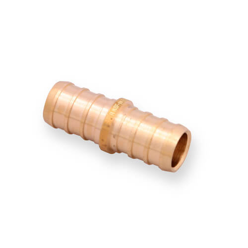 "1/2"" PEX x 1/2"" PEX Brass Coupling (Lead Free)"
