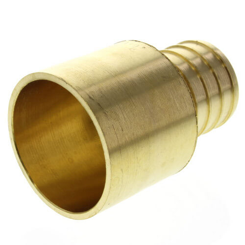 "1"" PEX x 1"" Copper Pipe Brass Adapter"